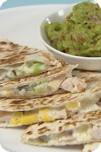 Gizzi's Smoked Chicken and Mango Quesadilla