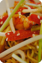 Gizzi's Spicy Singapore Curried Noodles