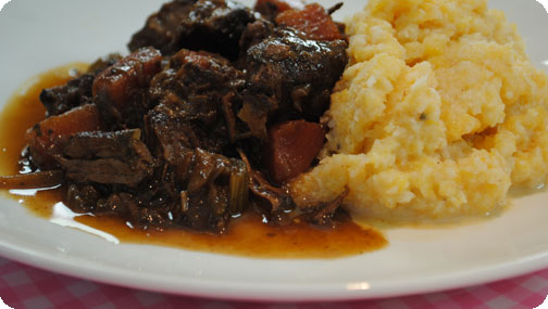 Gizzi's Rich Beef Stew with Root Vegetable Mash